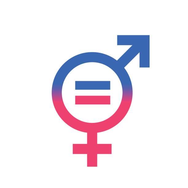 Gender equal sign vector icon. vector art illustration