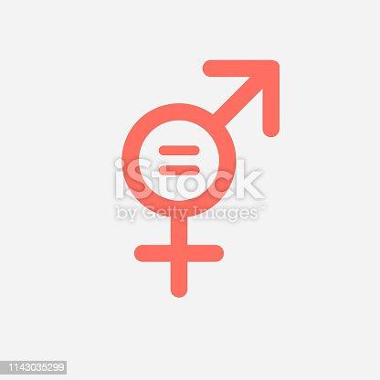 Gender equality icon symbol.