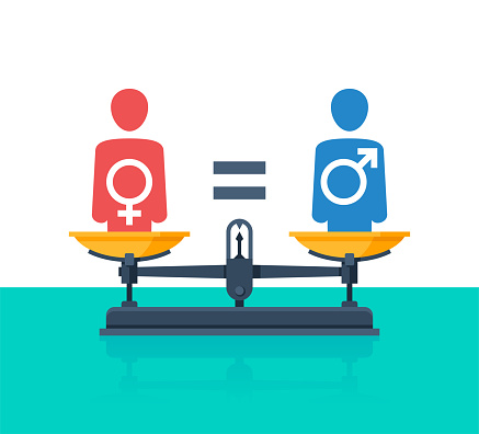 Gender equality on weighing scales