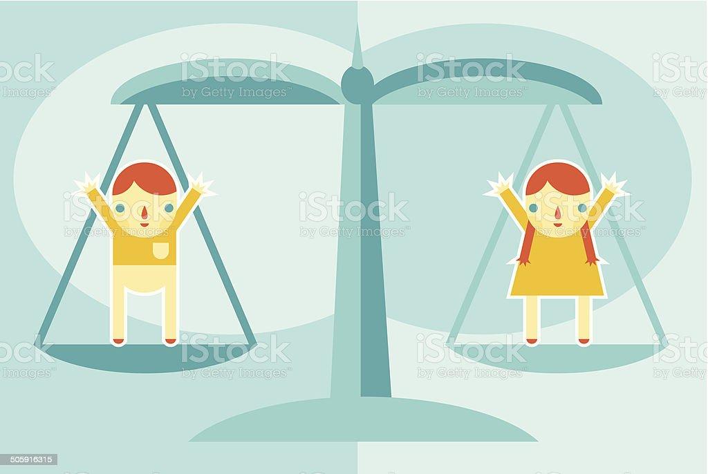 Gender Equality vector art illustration
