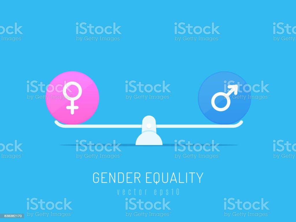 La igualdad de sexos - ilustración de arte vectorial