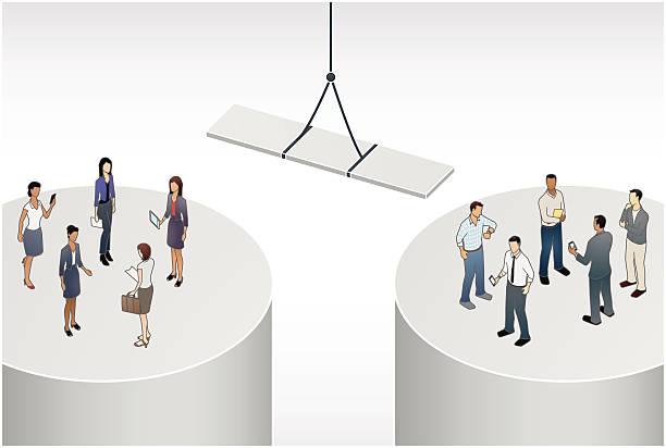 Gender Gap Illustration vector art illustration