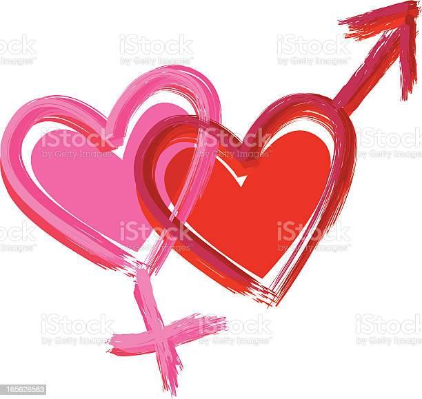 Gender Hearts Stock Illustration - Download Image Now