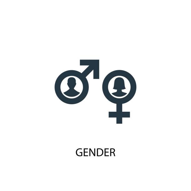 ilustraciones, imágenes clip art, dibujos animados e iconos de stock de icono de género. ilustración de elemento simple. diseño de símbolo de concepto de género. puede ser utilizado para la web y móvil. - fémina