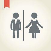 Illustration of gender icons on the white.