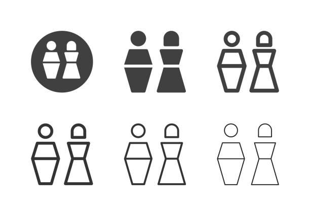 gender icons - multi series - old man sex clip art stock illustrations, clip art, cartoons, & icons