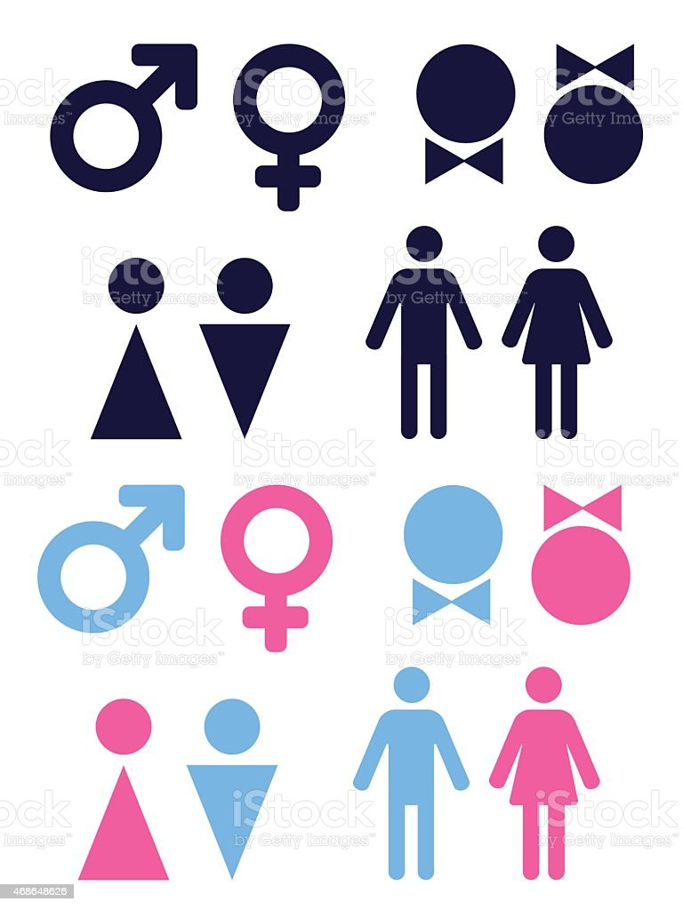 gender icons vector art illustration
