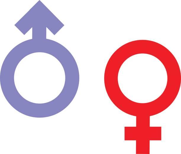 bildbanksillustrationer, clip art samt tecknat material och ikoner med kön ojämlikhet och jämställdhet ikon symbol. manliga kvinnliga flicka pojke kvinna mannen transpersoner ikonen. fördärvar vektor symbol illustration. - manspersoner