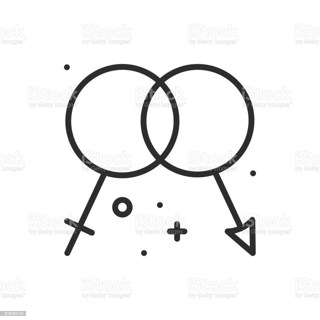 Gender Liniensymbol Männer Und Frauen Sex Zeichen Und Symbol ...