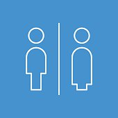 Gender line icon,vector illustration.