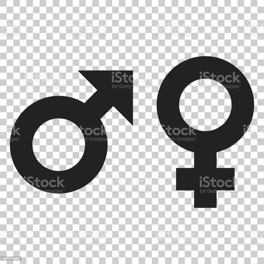 Gender Male And Female Sign Vector Icon Men And Women Concept Icon