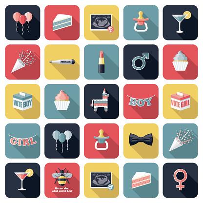 Gender Reveal Icon Set