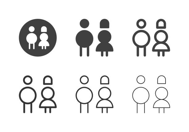 Gender Sign Icons - Multi Series vector art illustration
