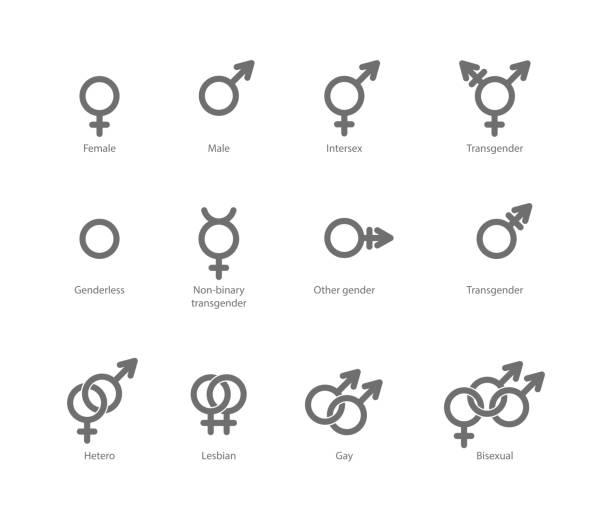 ilustrações, clipart, desenhos animados e ícones de símbolo de sexo ícones - casais do mesmo sexo
