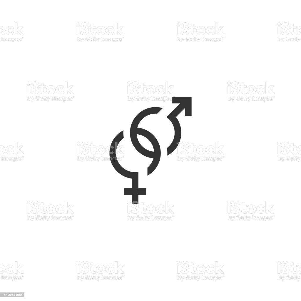 Gender Symbol Male Female Icon Vector Stock Vector Art More Images