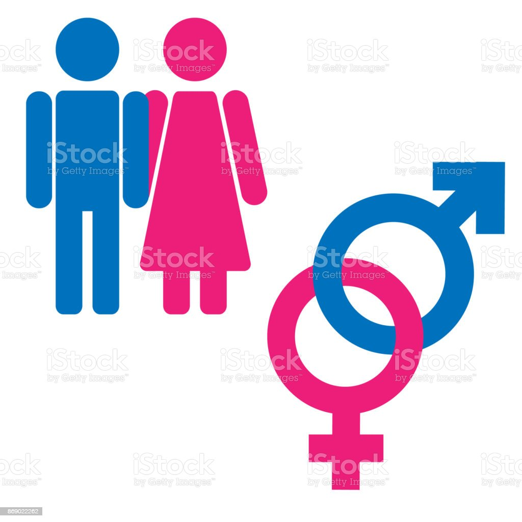 Gender Symbol Set Male Female Girl Boy Woman Man Icon -2428