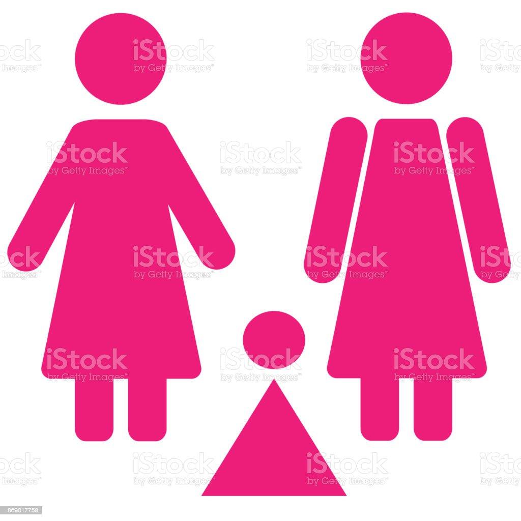 Ilustración De Conjunto De Símbolo Del Género Hombre Mujer Niña Niño
