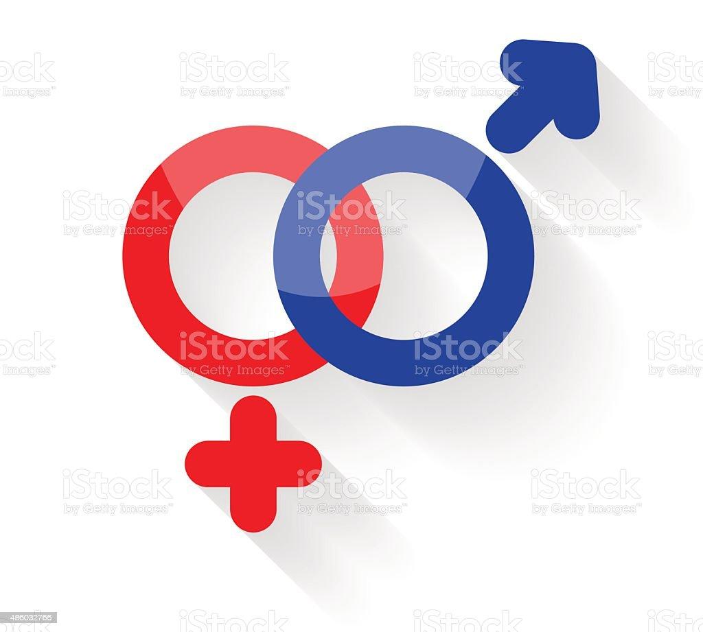 Gender symbols illustration vector art illustration