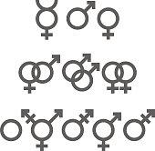 Gender symbols pack