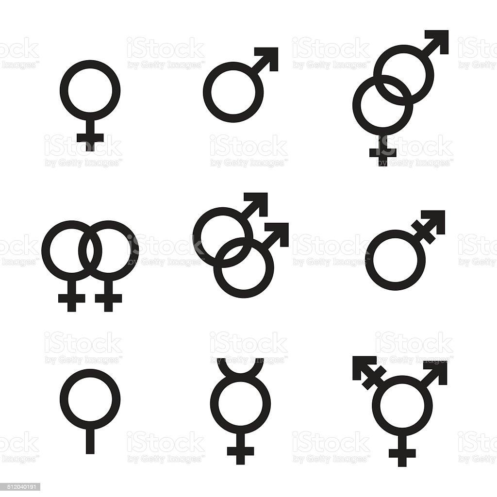 Gender Symbols vector art illustration