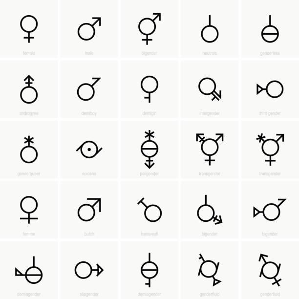 geschlecht symbole - zeichensetzung stock-grafiken, -clipart, -cartoons und -symbole