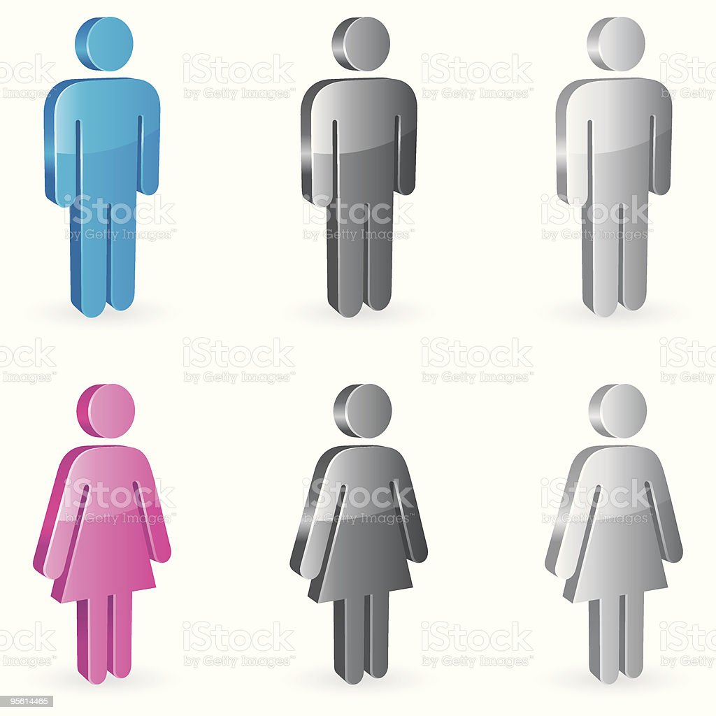 Gender symbols. vector art illustration