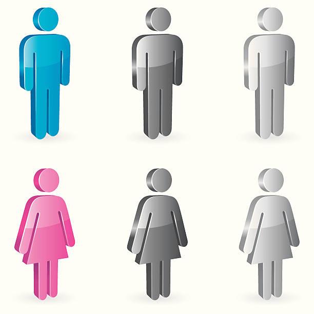 Gender symbols.  bathroom clipart stock illustrations