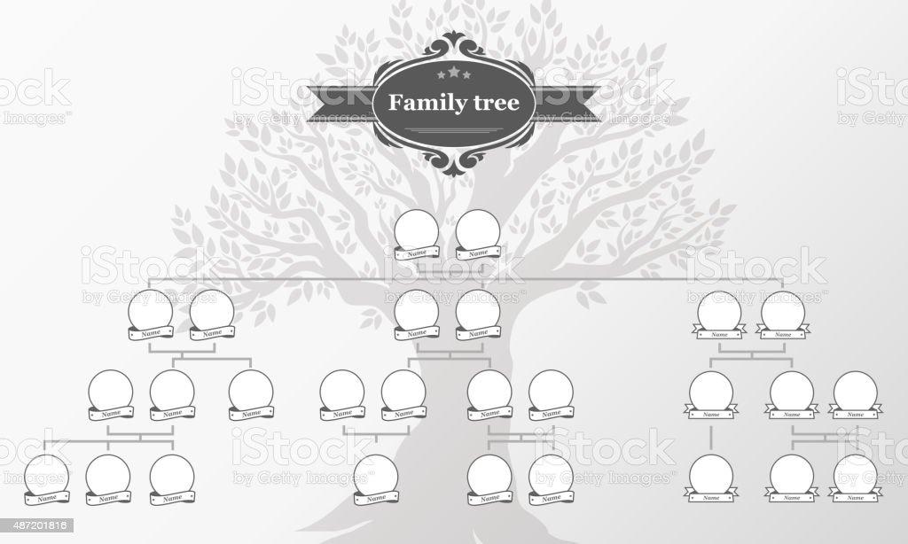 Genealogical tree of your family. genealogical tree of your family vecteurs libres de droits et plus d'images vectorielles de 2015 libre de droits