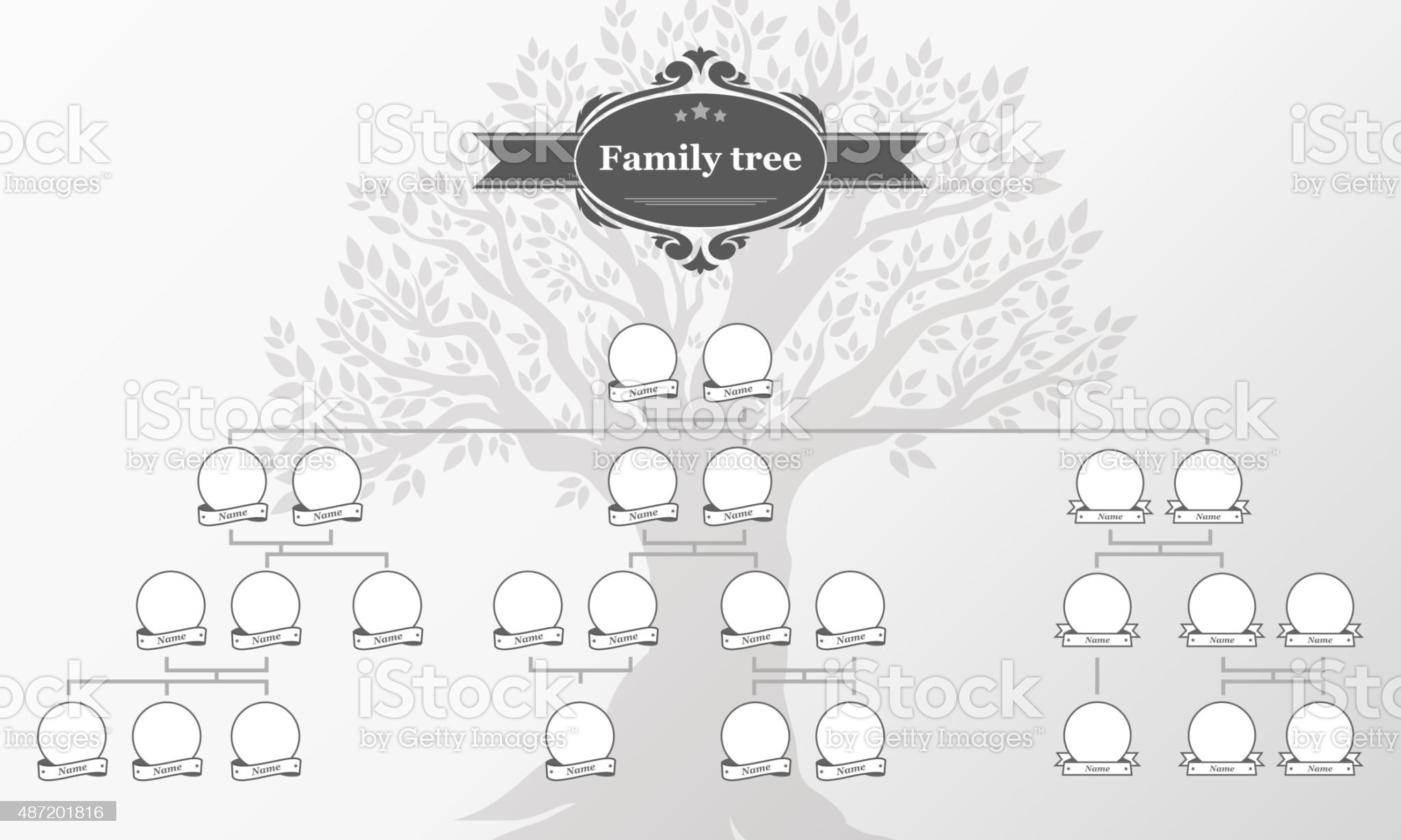 Genealogical tree of your family. royalty-free genealogical tree of your family stock vector art & more images of family tree