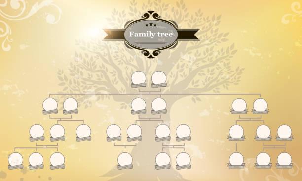 genealogical tree of your family. - stammbäume stock-grafiken, -clipart, -cartoons und -symbole