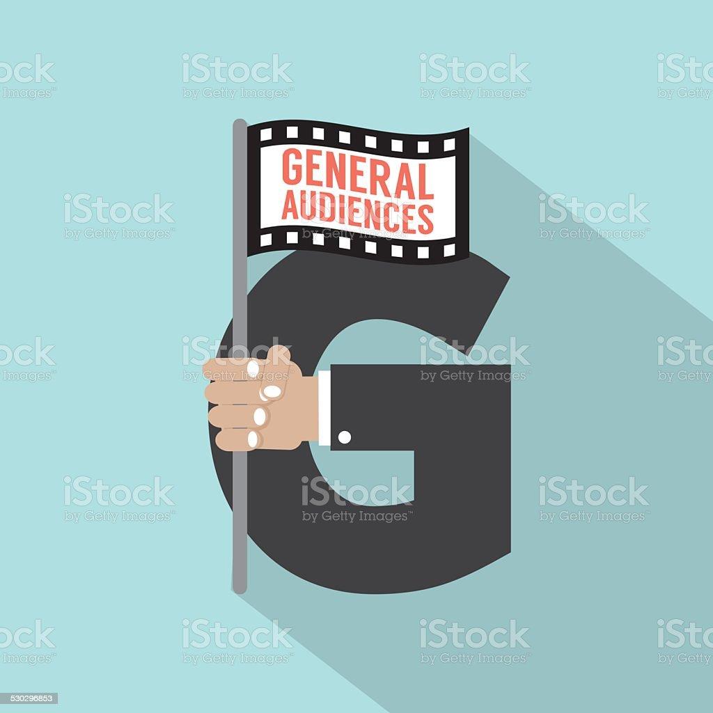Allgemeine Publikum Symbolamerican Film Rating System Stock Vektor ...
