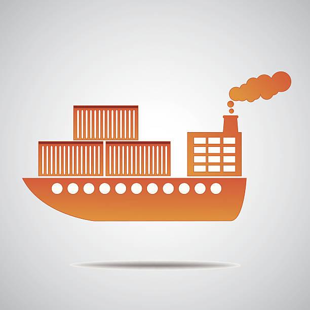 general cargo schiff der behälter transport - alicante stock-grafiken, -clipart, -cartoons und -symbole