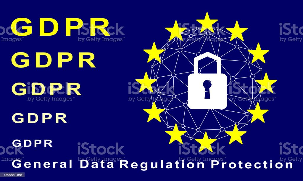 General Data Protection Regulation (GDPR) concept. - Royalty-free Abstract stock vector