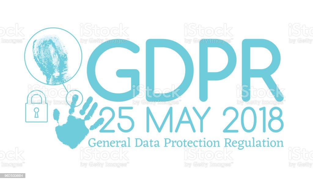 Geral de conformidade PIBR de regulamento de proteção de dados ou lei é ano de 25 de maio de 2018 - Vetor de 2018 royalty-free
