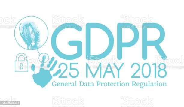 Vetores de Geral De Conformidade Pibr De Regulamento De Proteção De Dados Ou Lei É Ano De 25 De Maio De 2018 e mais imagens de 2018