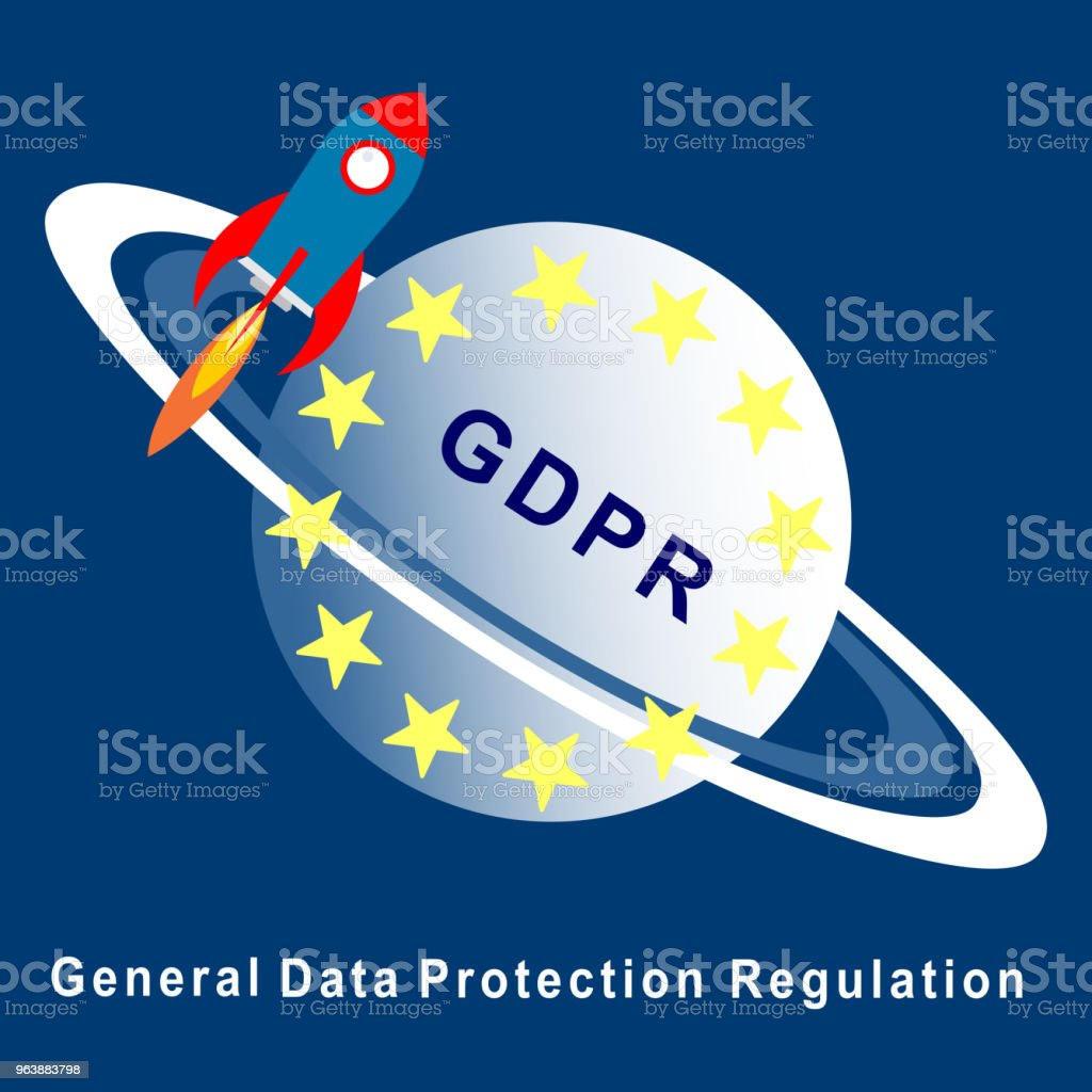 General Data Protection Regulation (GDPR) start up concept. - Royalty-free Abstract stock vector