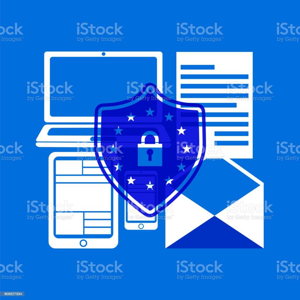 General Data Protection Regulation vector art illustration