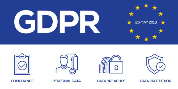 illustrazioni stock, clip art, cartoni animati e icone di tendenza di general data protection regulation - uniforme
