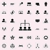 general direction of employees icon. Teamwork icons universal set for web and mobile
