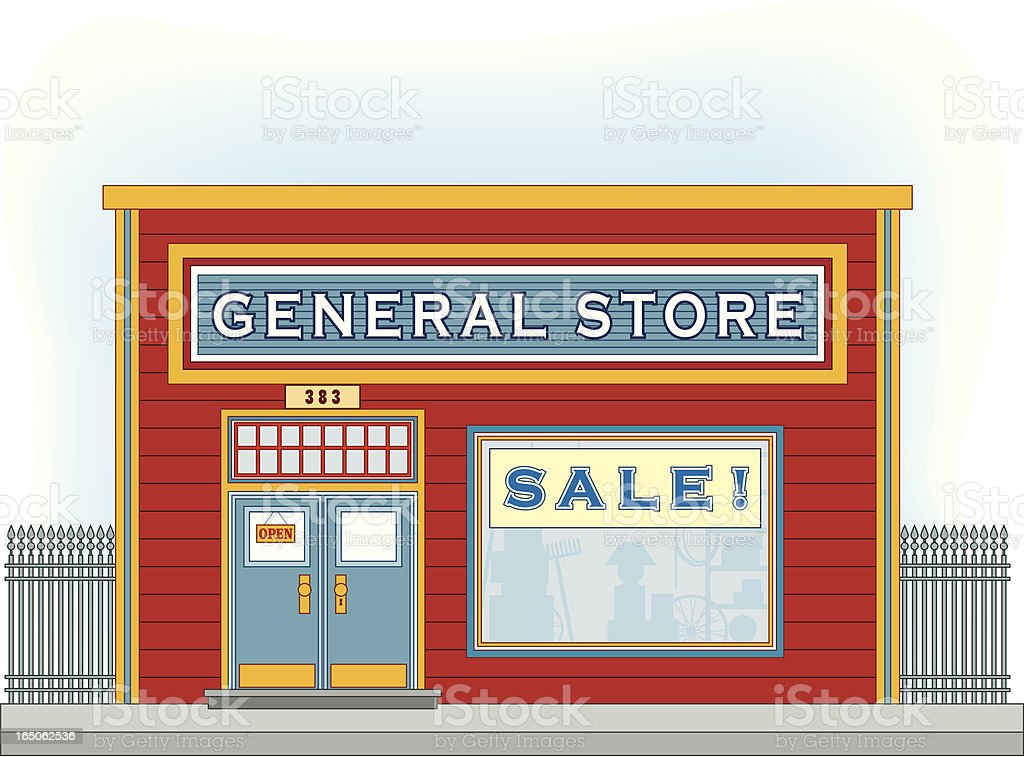 General Store royalty-free general store stock vector art & more images of architecture