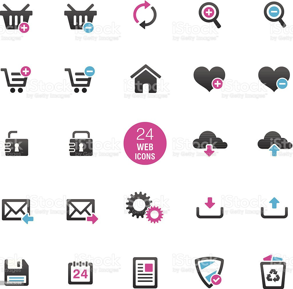 General Website Icons royalty-free stock vector art