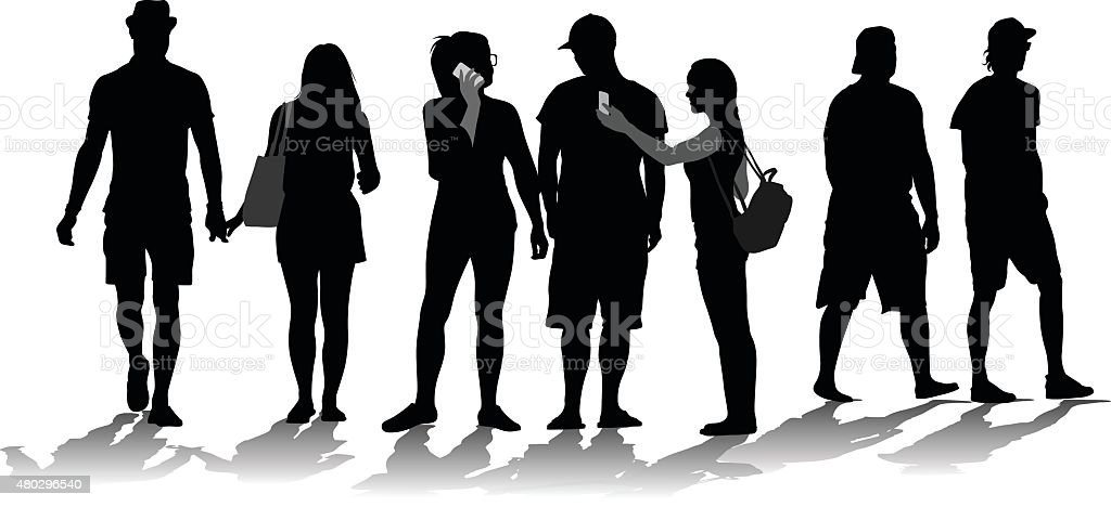 generation y silhouette crowd stock vector art more images of 2015 rh istockphoto com crown vector image crown vector free download