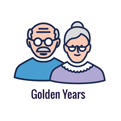 Generational and Retirement Icon set showing considerations - retirement
