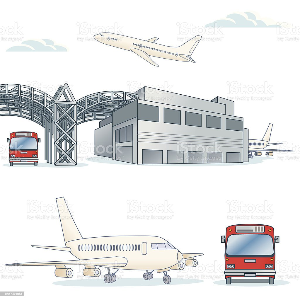 Generic Airport vector art illustration