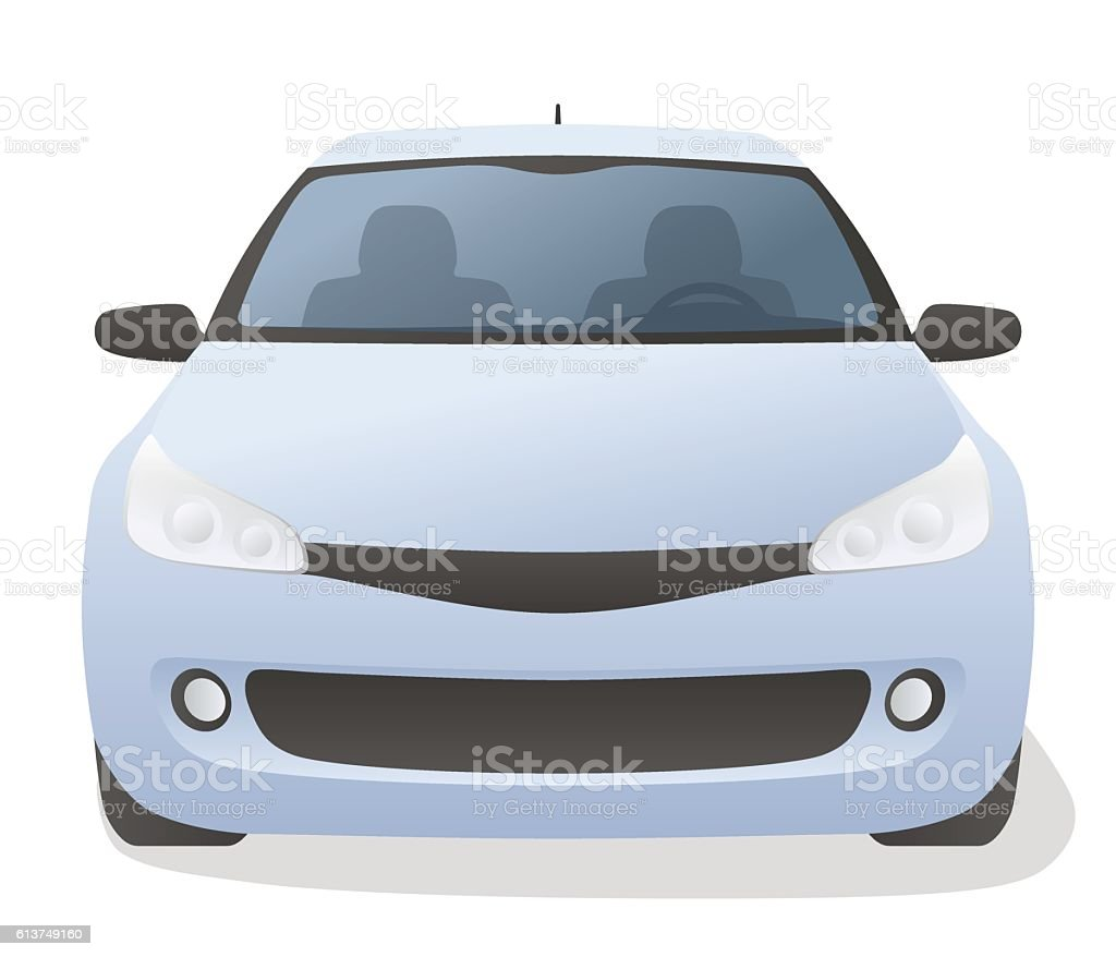Generic car front view, vector illustration vector art illustration