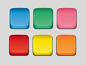 Vector illustration of computer keyboard keys in different colours.This illustration contains transparency effects. Therefore the file is am Illustrator EPS 10 file. The file has been set up using CMYK colours and no spot colours.