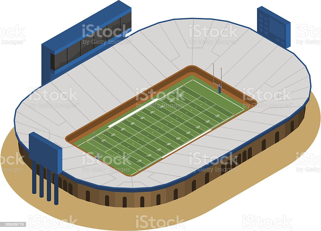 Generic Football Stadium royalty-free generic football stadium stock vector art & more images of american football - ball