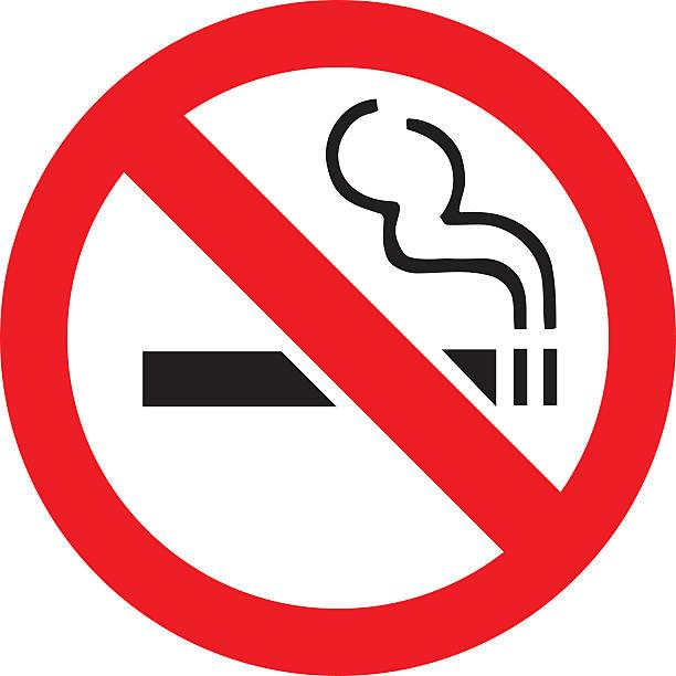 Generic No Smoking Sign vector art illustration