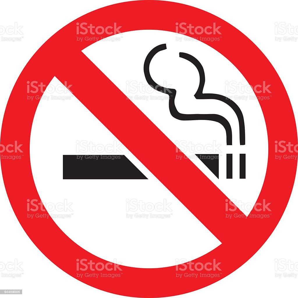 Generic No Smoking Sign vector art illustration