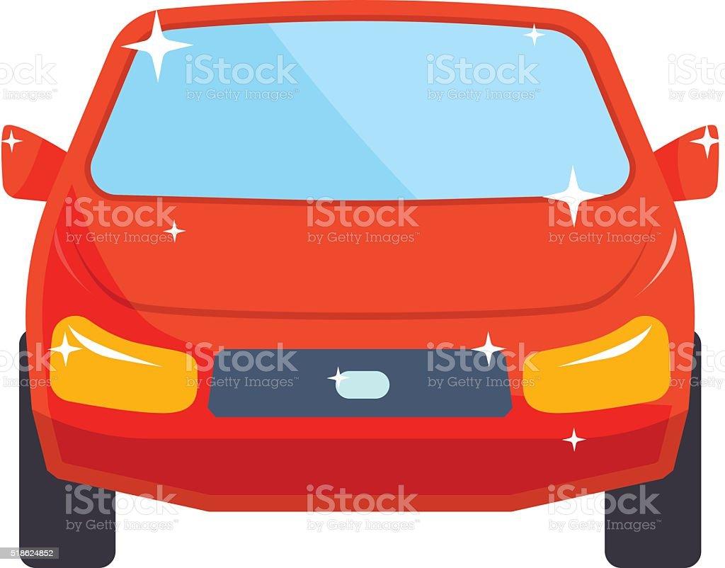 Generic red car luxury design flat vector illustration isolated on vector art illustration